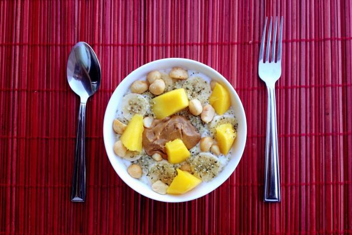 Oatmeal mango bowl