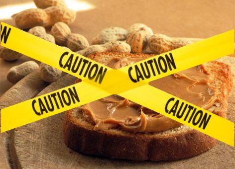 peanut-butter caution