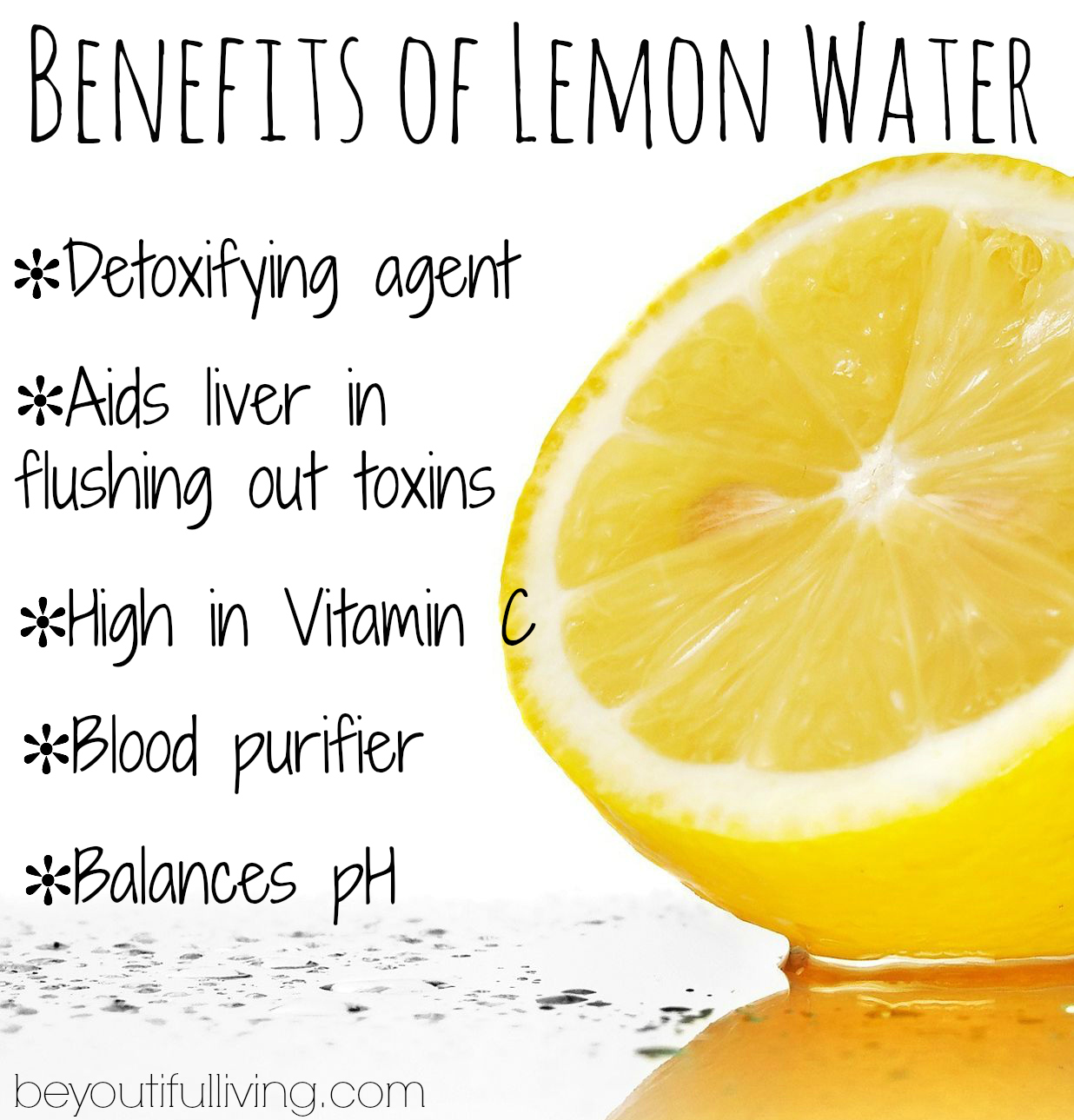 Lemon Water for Detoxifying Lemon-water